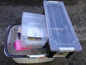 宮崎市でCD、ケースなど細々した不用品の回収写真