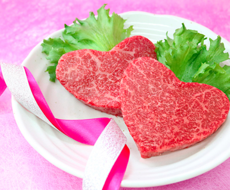 【限定3名さま】 かわいいハート型の米沢牛赤身モモステーキ(A4・A5等級) 片付け110番プレゼントキャンペーン!!