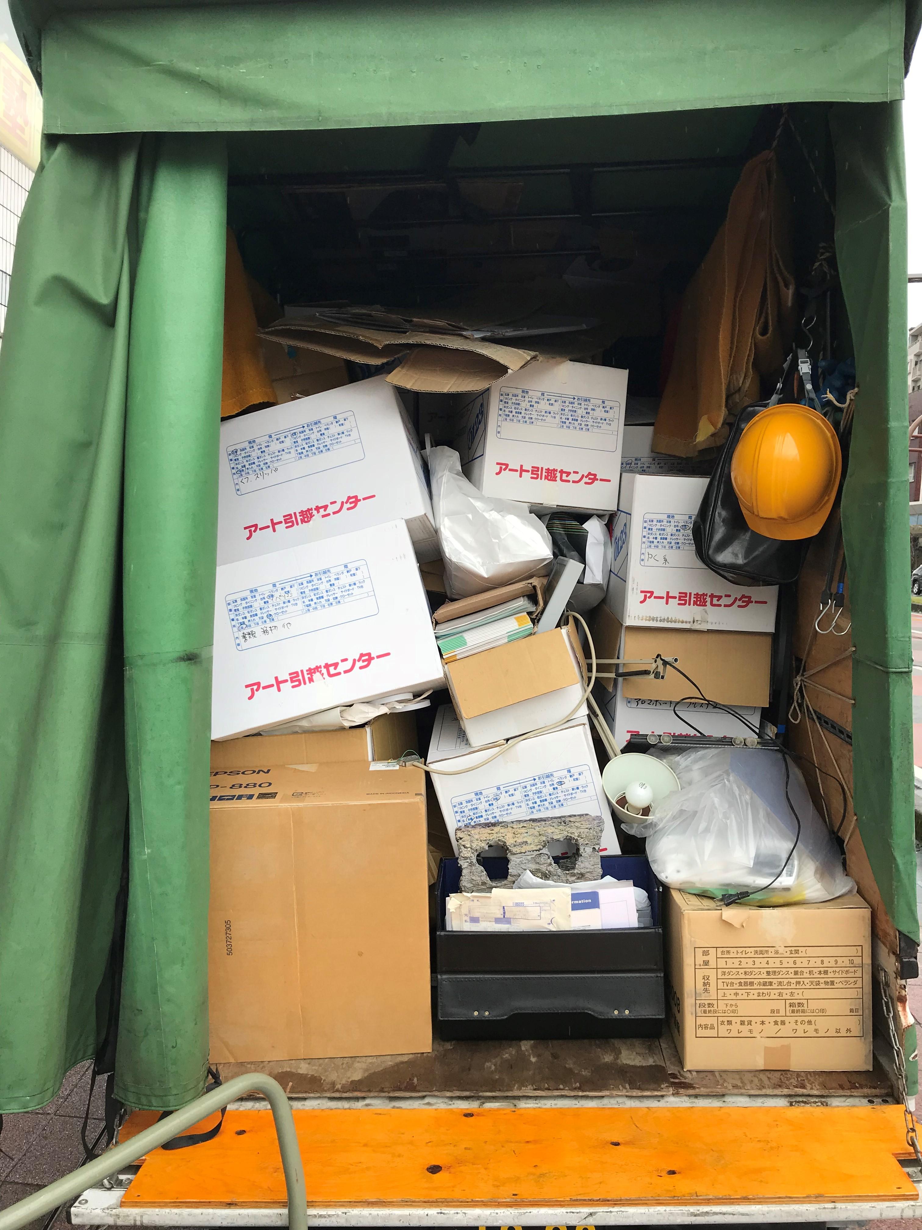 宮崎市江平西でマッサージチェアなど軽トラ1台分程度の不用品処分 施工事例紹介