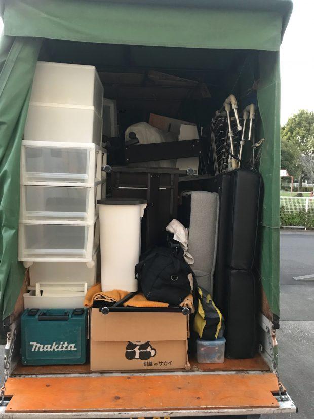【宮崎市佐土原町】本棚、ソファーベッドなど軽トラック1台程度の不用品回収☆追加料金脚で対応することができご満足いただけました!