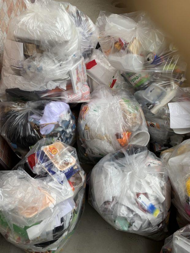 【宮崎市清武町】大量の家庭ごみの回収☆溜まってしまったゴミを処分でき、お客様にご満足いただけたようです。