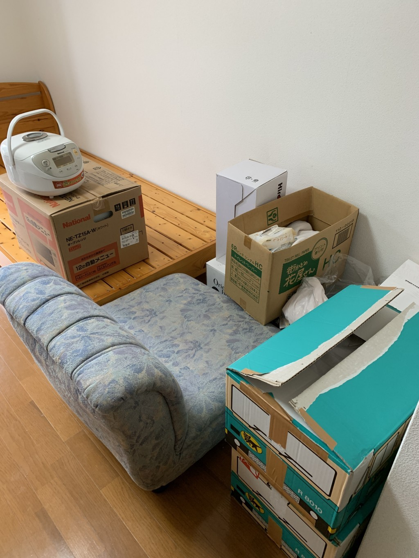【宮崎市】冷蔵庫など2tトラック一台程度の不用品回収☆一気に処分することができ、とても喜んでいただきました!