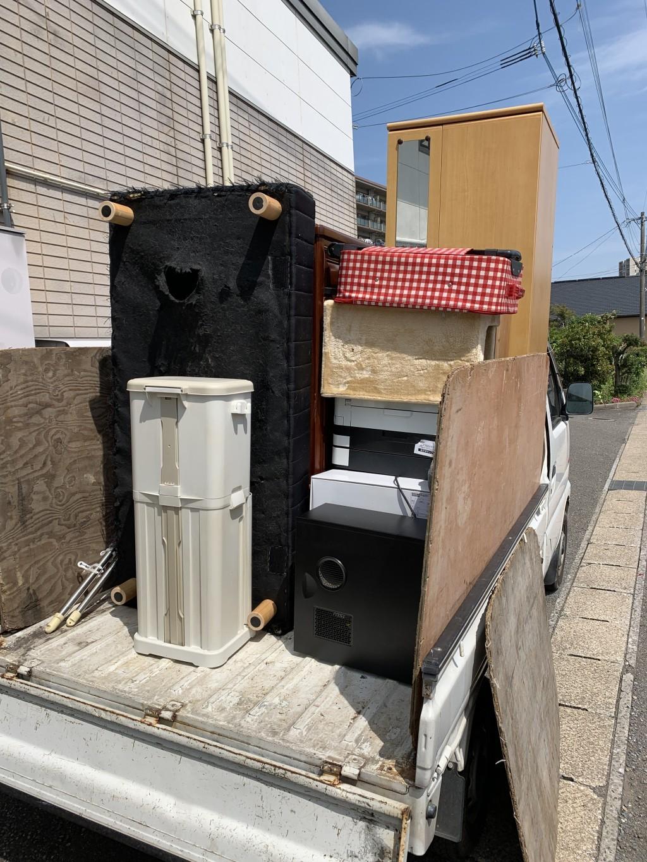 【池田町】引越しに伴う軽トラ1台分の不用品回収・処分 お客様の声
