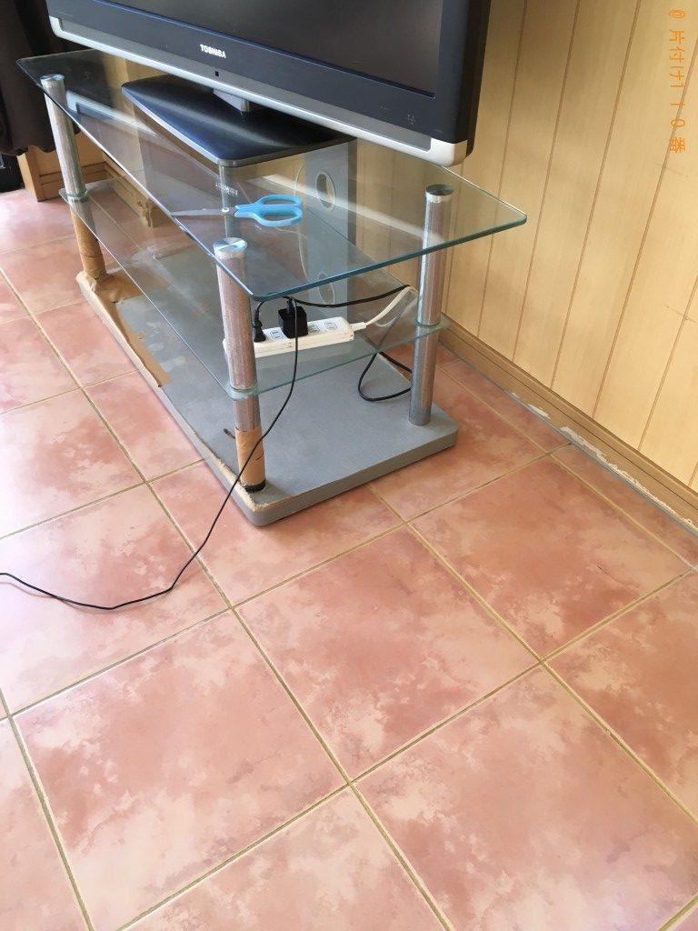 【都城市久保原町】ダイニングテーブル、回転イス、テレビ台の回収・処分 お客様の声