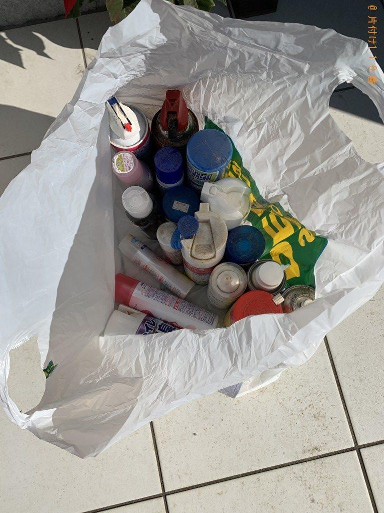 【えびの市】エアコン掃除スプレー、殺虫剤、髪のムース等の回収・処分