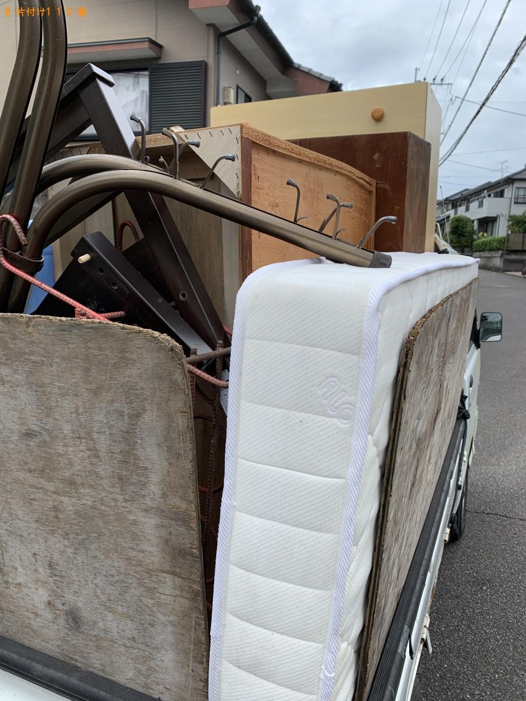 【宮崎市】シングルベッド、学習机、4段チェストの回収・処分ご依頼