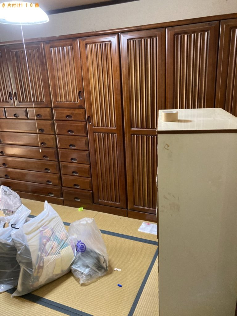 【燕市】遺品整理に伴いタンス、食器棚、椅子、下駄箱等の回収・処分ご依頼