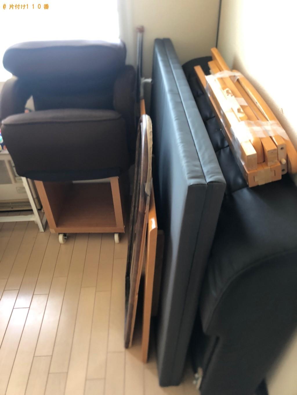 【宮崎市】四人用ダイニングテーブル、セミダブルベッド等の回収