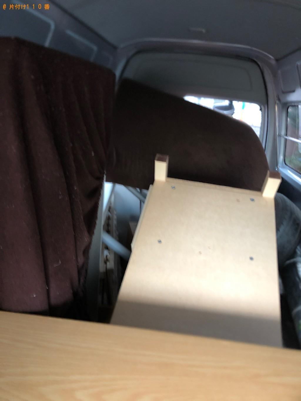 【日向市】遺品整理に伴い食器棚、折り畳みベッド、ラック、ローテーブル等の回収