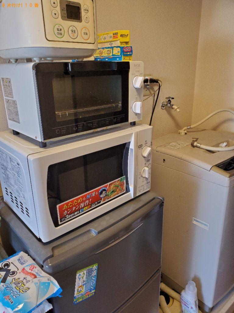 【延岡市】遺品整理に伴い冷蔵庫、洗濯機、PCデスク、椅子、ローテーブル等の回収