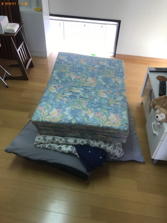 【宮崎市】冷蔵庫、洗濯機、マットレス付きシングルベッド等の回収