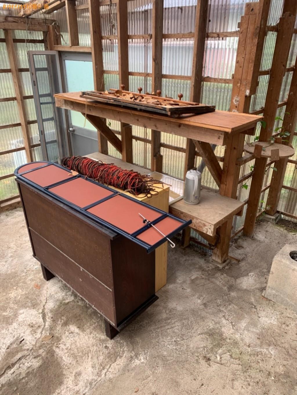 【東諸県郡国富町】スタンドミラー、椅子、電子レンジ等の回収・処分